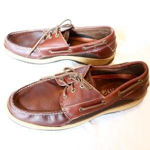 Sperry top slider boat shoe leather men's 13